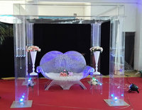 New design Acrylic clear Crystal Mandaps or pillar for wedding stage or outside Event