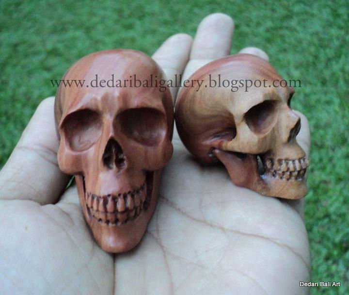 Skull carving brown wood buy wood skull carving product on