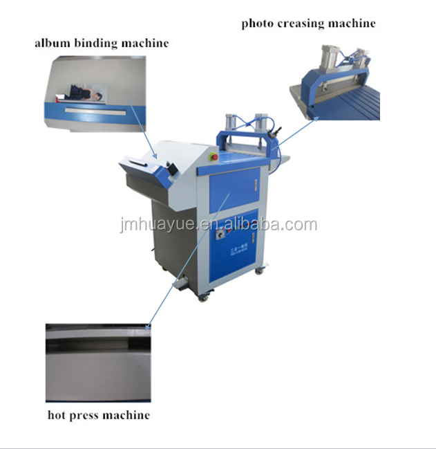 Easy to operate 3 in 1 hot press creasing and binding machine in good price