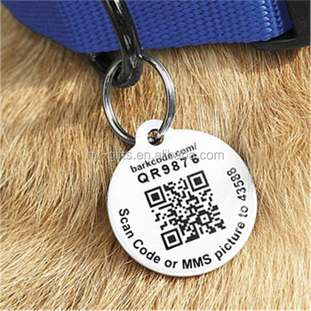 custom qr code pet id tag unique stainless steel dog tag buy
