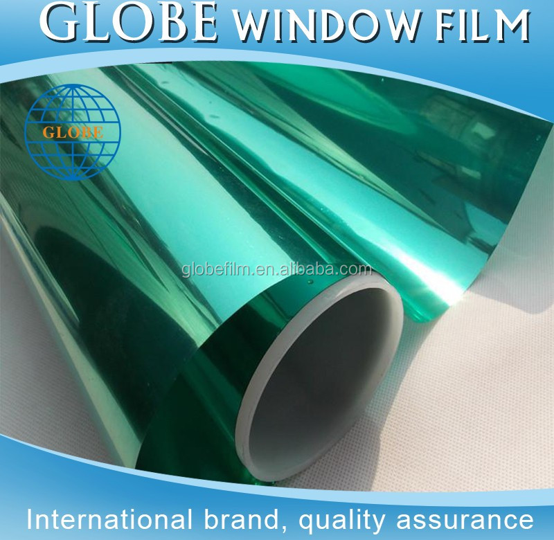 2017 hot sell item uv cut silver green window tint film roll for building