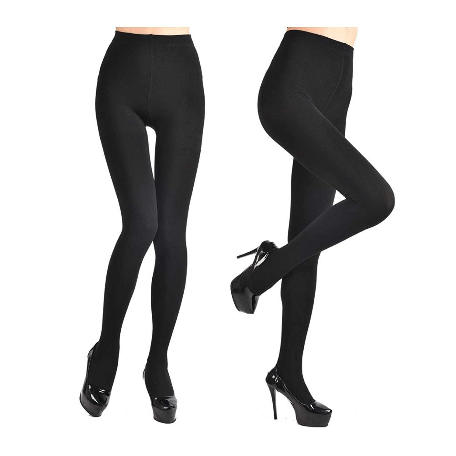 74d9bb6aadb Get Quotations · Fleece Lined Tights for Women Ladies 2Pairs Winter Warm  Pants 3Colors Elstic High Waist Velvet Tights