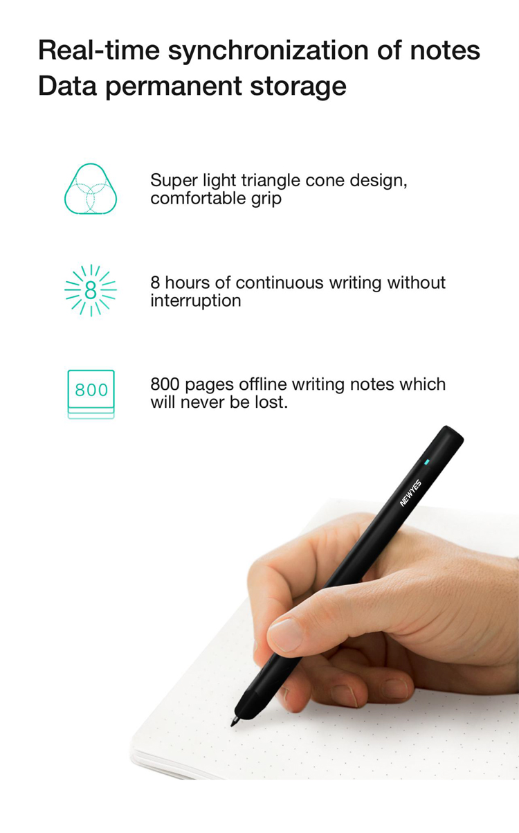 Newyes Professional Storagable Recycled Notebook And Pen Smart Writing Set