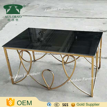 Exceptional Different Style Gold Stainless Steel Coffee Table Legs