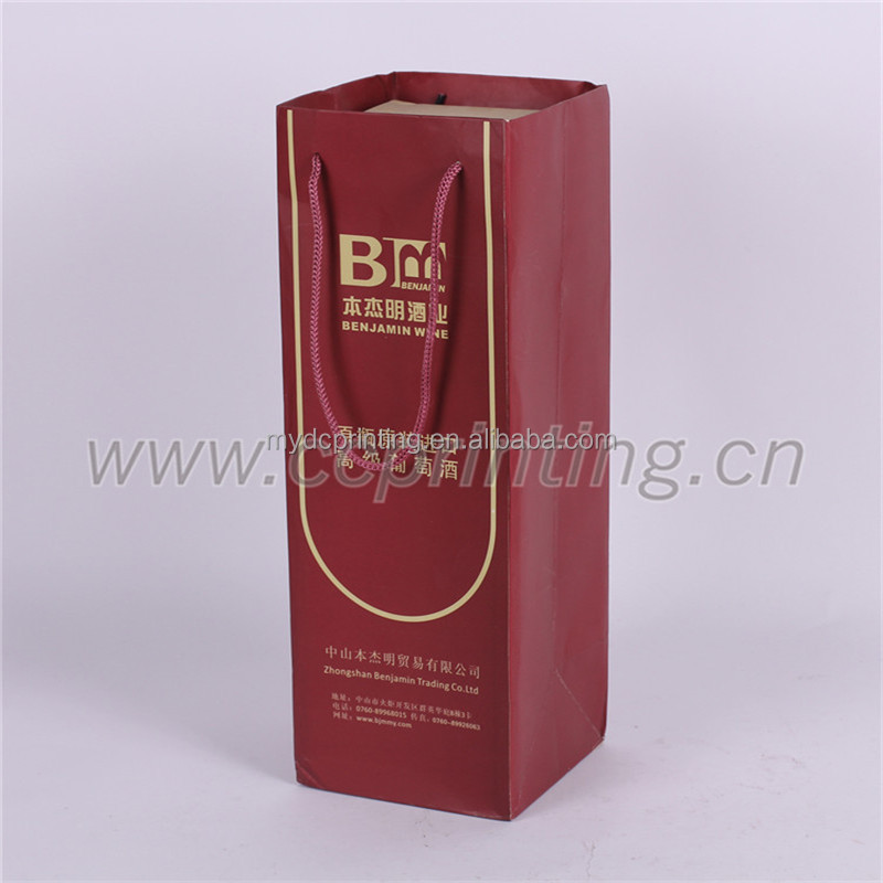 Promotional Paper Wine Bag/Gift Wine Bag for Wine