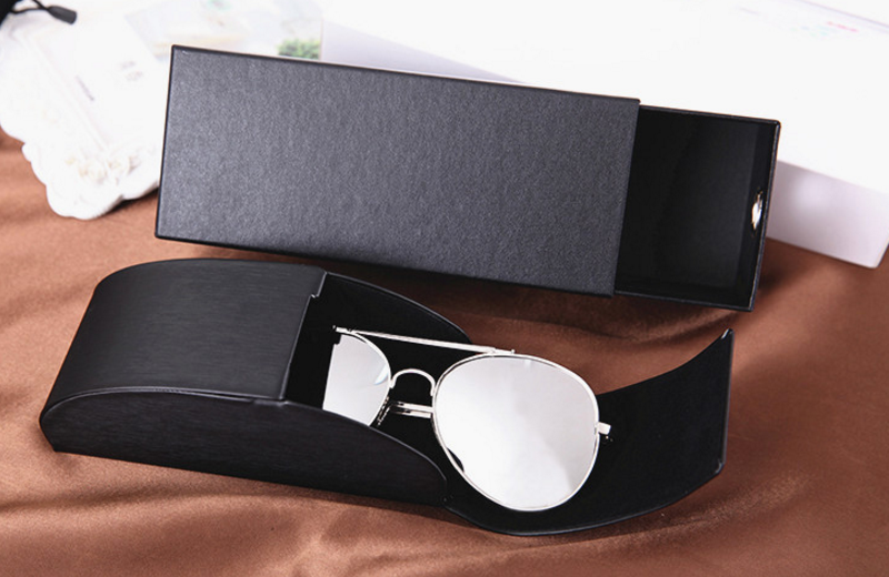 HJ Wenzhou Wholesale High Quality Sunglasses Accessories Suede Case Bag Cardboard Logo Print Branded Sunglasses Packaging Boxes