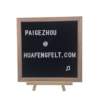 10*10inch Leter Board with OAK Wood Frame and Stand