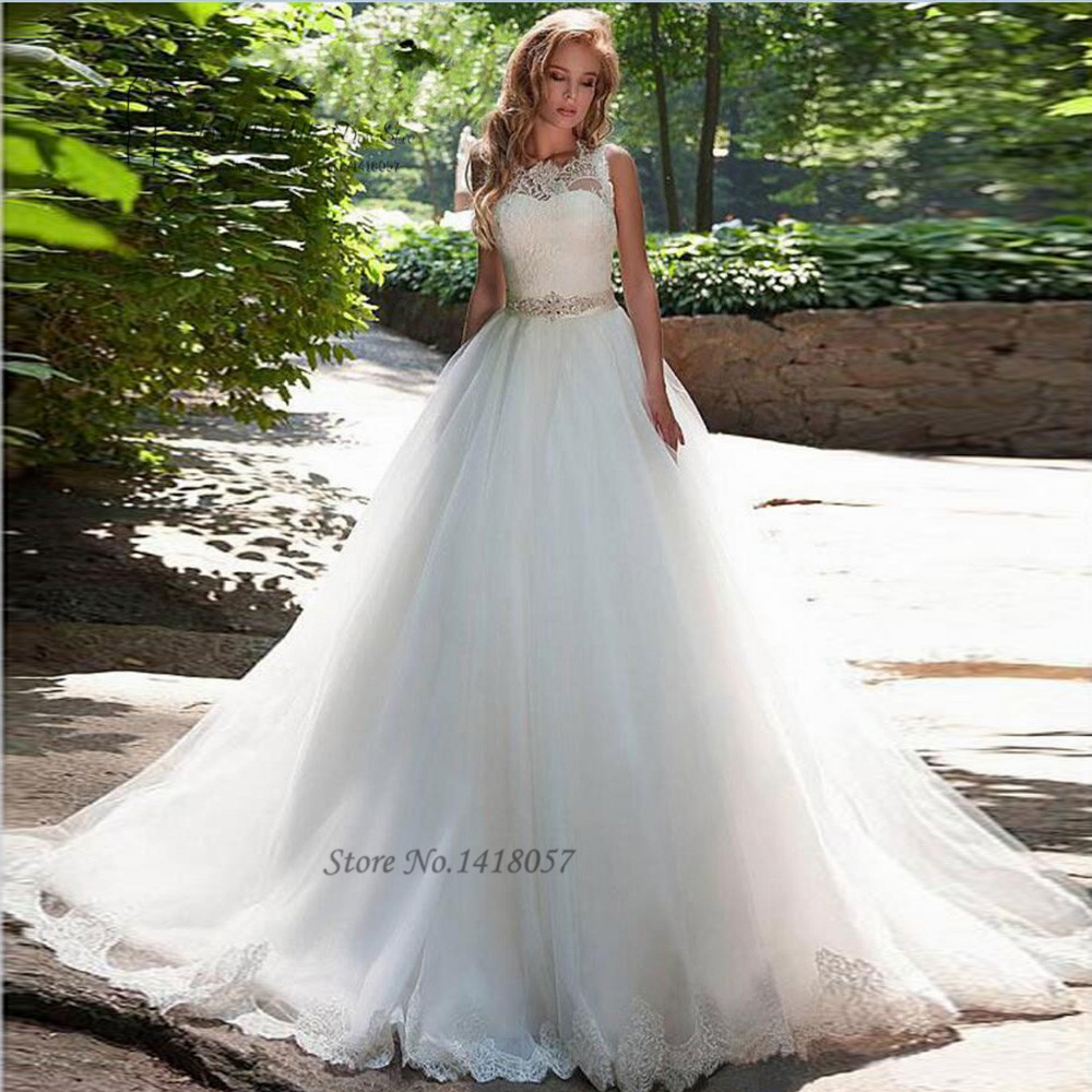 Simple Elegant Country Style Wedding Dresses With Lace: Vestidos De Noiva 2016 Simple Cheap Wedding Dress Elegant