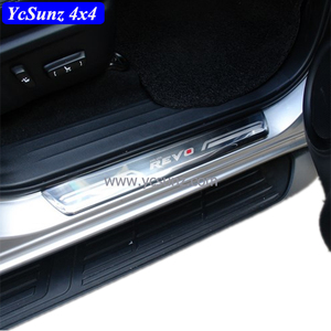 YCSUNZ 100% Stainless Steel Door Decorative Door Sill Guards For Hilux Revo 2015 2016 Door Sill Scuff Plate Outside 4 PCS