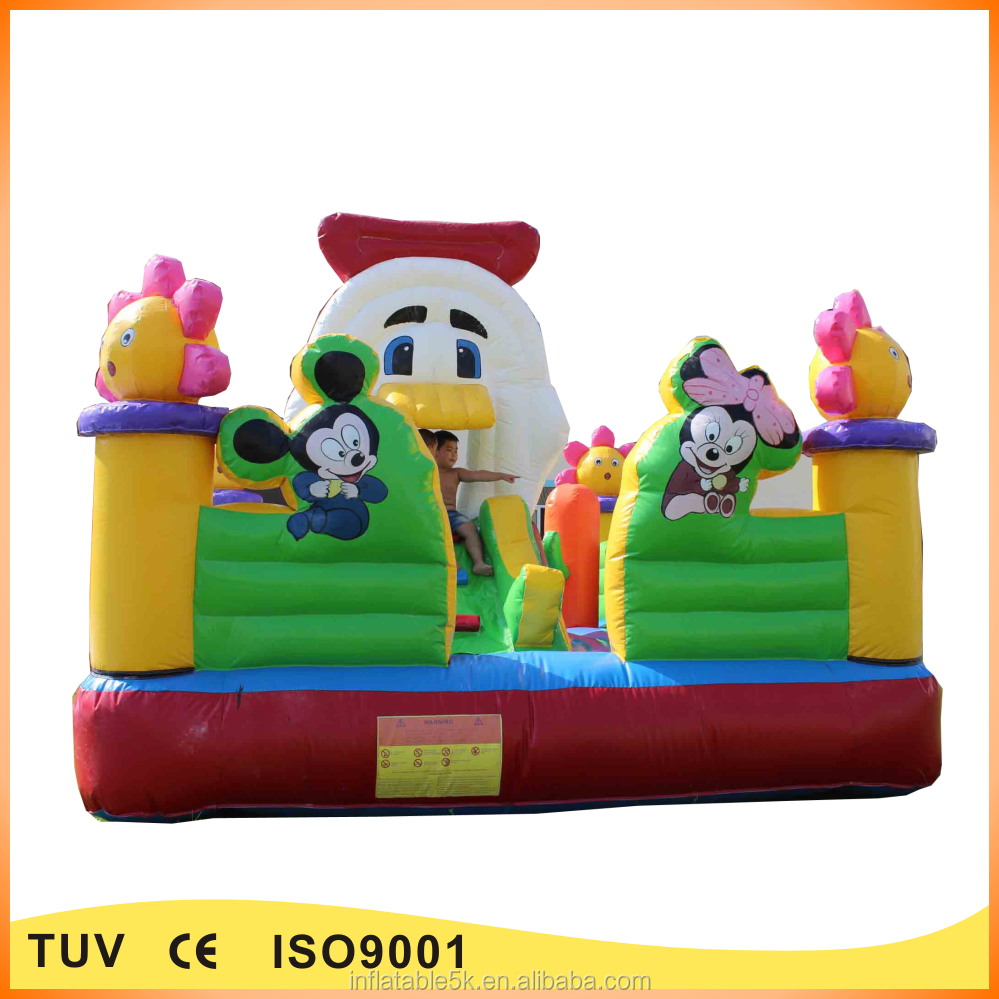 Amusement park equipment inflatable fun city inflatable playground for kids