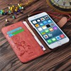 "For iPhone 6 Case Wallet Leather Vintage Flip Soft Cover Cell Phone Cases For Apple iPhone 6 6S 4.7"" Wallet Card"