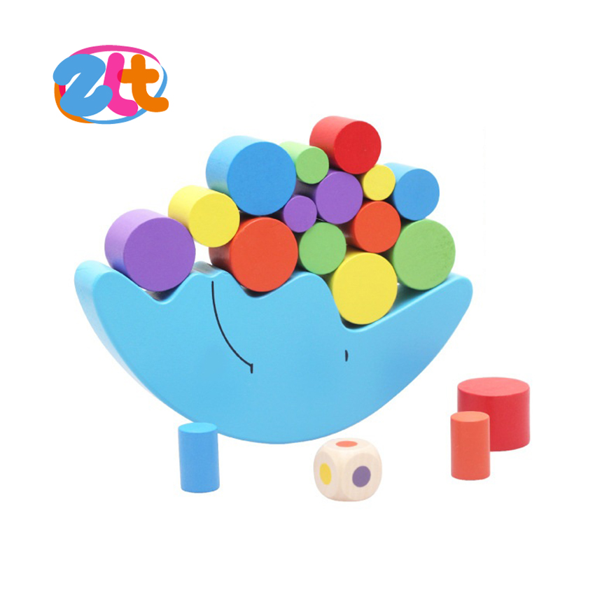Educational moon wooden balance toys for kids