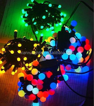 High Quality Led Christmas Light Rubber Copper Wire String Light ...