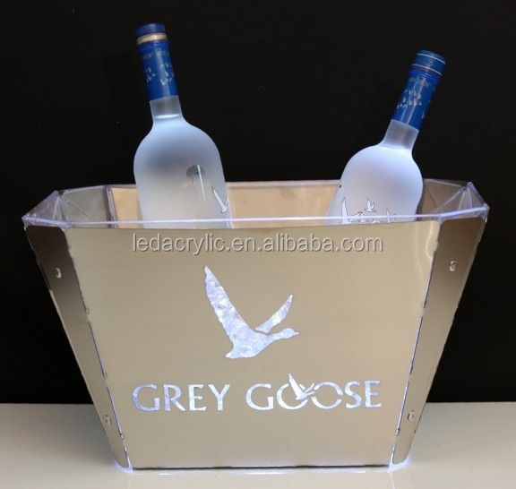 Grey Goose LED ice bucket