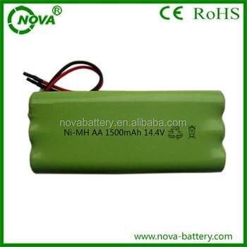 China Supplier Aa 14.4v 1500mah Nimh Battery Pack