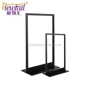A4/A5 Hotel indoor stainless steel matte or mirror surface metal display sign stand holder made by BONA