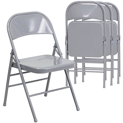 Pack Gray Metal Folding Chairs, View Metal Folding Chairs, SS Product  Details From Yongqing Yaxing Furniture Factory On Alibaba.com