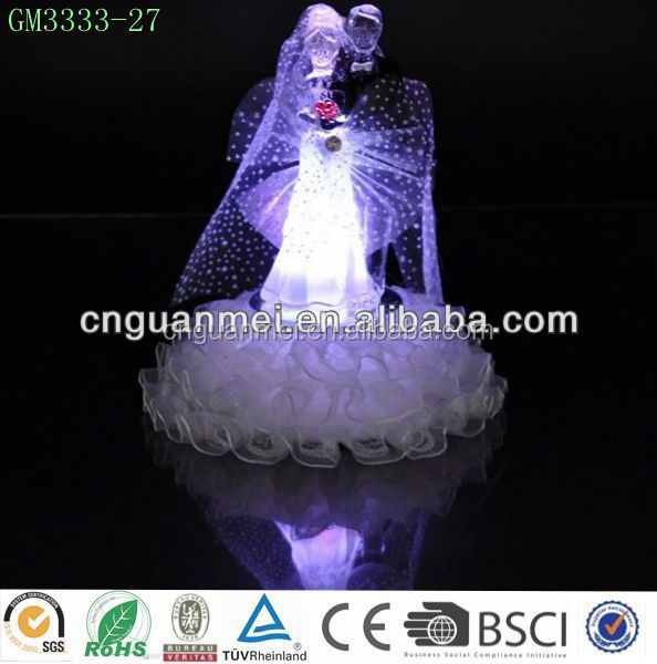 fashion and new design factory direct sale glass wedding gift with llight