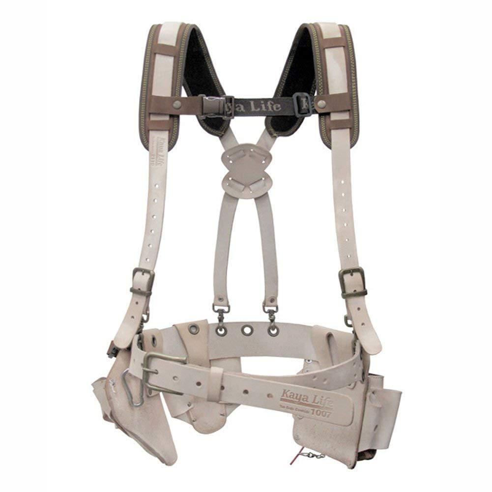 KAYA Life KL-2000 Top Grain Cowhide Multi Tool Holder Belt Suspender Set