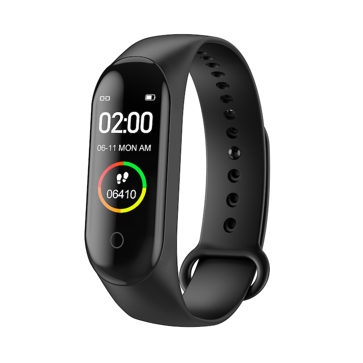 Wholesale M4C colorful touch screen heart rate monitor Blood Pressure Sports Fitness tracker  smart watch