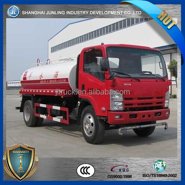 NQR water tank truck with 10000Liter volume tank in dimension