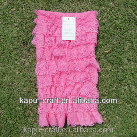 2015 new arrival pink baby lace ruffle romper, baby halter rompers, toddler boutique clothing