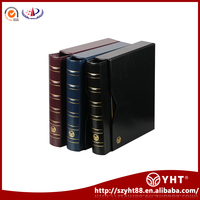 Plastic PVC collecting coin display holder books with interior pages