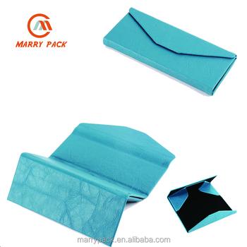 e5a0821560 Triangle Handmade Foldable Pu Leather Sunglass Case