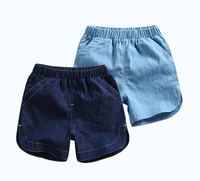 Pure cotton cute design baby boy denim shorts