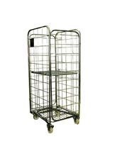 Storage Cargo Trolley 4 Wheels Steel Folding Roll Container For Sale