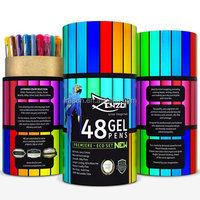 Premium Ink Gel Pens Set With Case Includes 48 color Artist Quality Coloring Pens