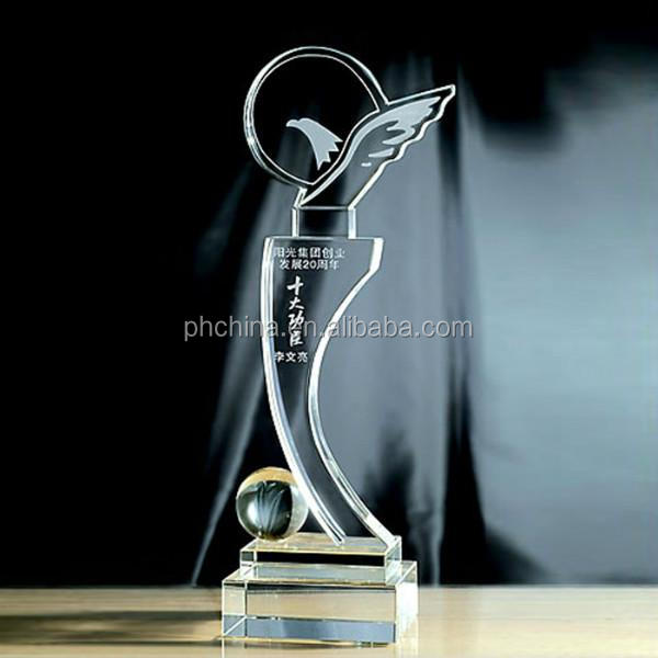2017 product new hot sale acrylic trophy blanks award for How to design a trophy