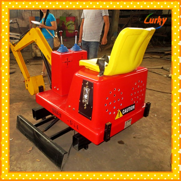Alibaba fr childrens' attraction coin operated excavator/Chinldren outdoor excavator <strong>games</strong>/amusement excavator rides