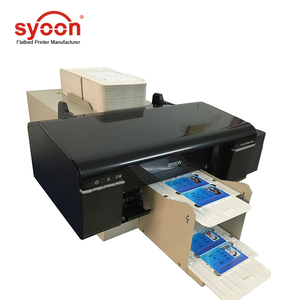Automatic CD DVD & PVC card printer / cd dvd disk making machine Business card printer 50cs CD DVD tray
