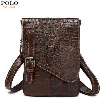 VICUNA POLO, bolso de hombro para hombre, bolso clásico de