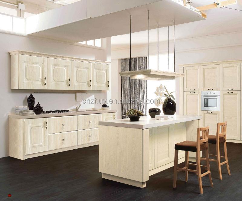 Bianco lucido pvc mdf ante dei mobili da cucina design con for Mobili mdf