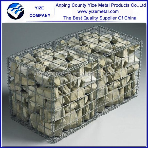 hot sale gabion retaining wall/welded gabion wall building/galvanized gabion box ( factory )
