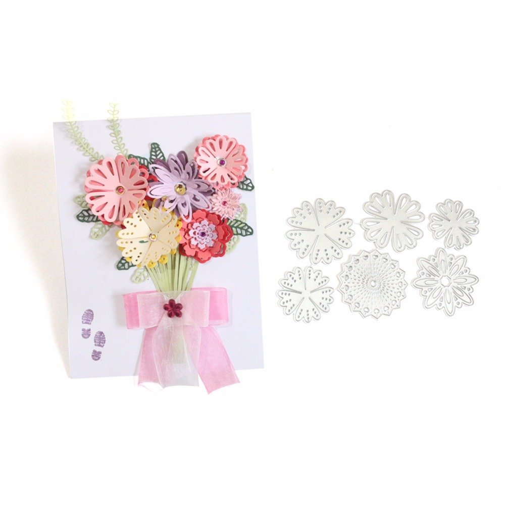 Cheap diy paper flower bouquet find diy paper flower bouquet deals get quotations lavenz flower bouquet invatation card diy scrapbooking dies album paper cutting die card photo christmas decorative mightylinksfo