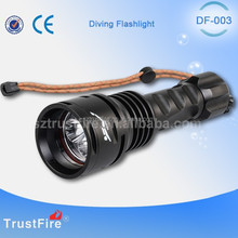 TrustFire DF003 3000LM waterproof dive light,led diving flashlights,underwater torch for fishing