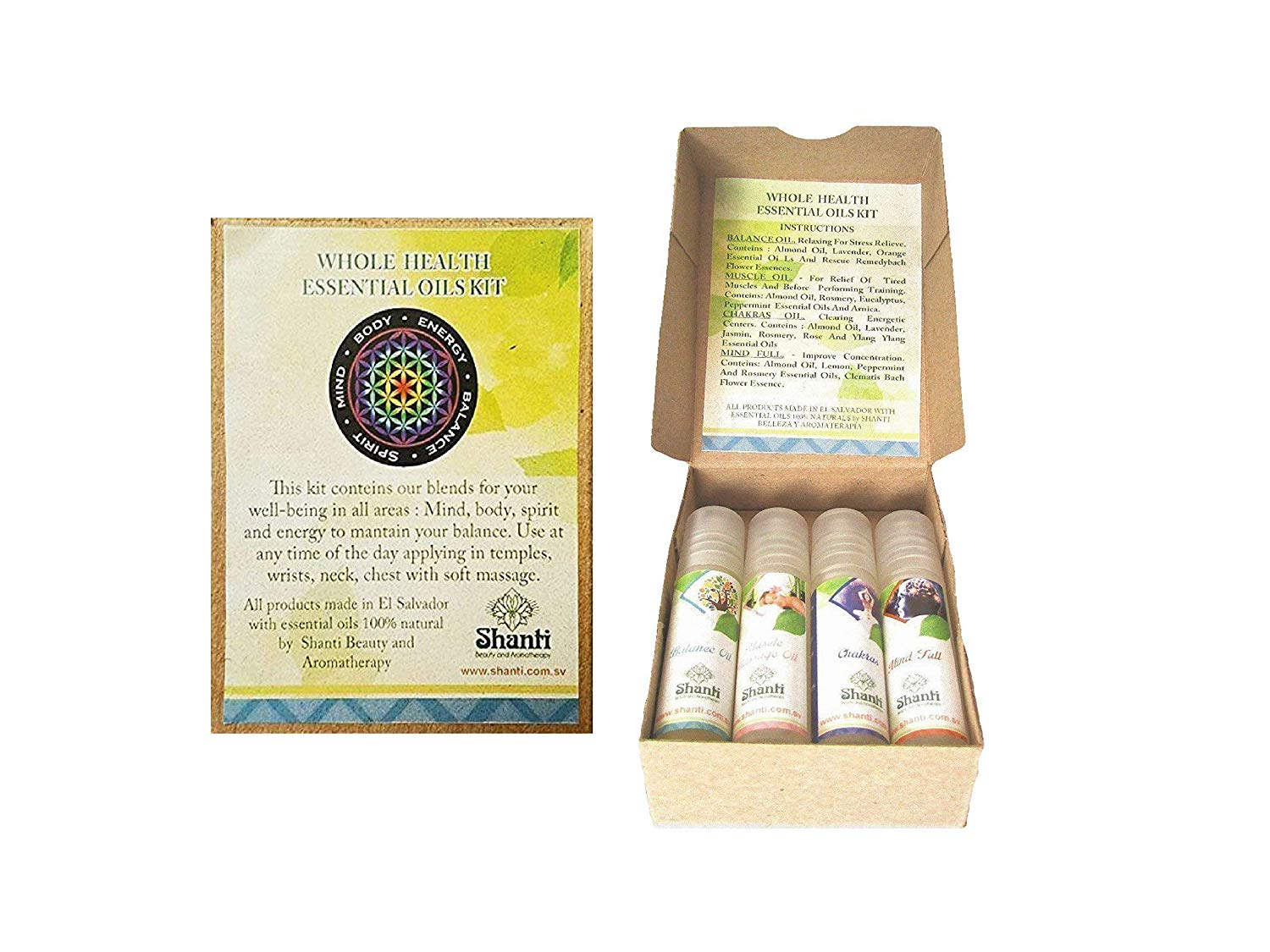Essential Oil Blends HOLISTIC Kit (Set Of 4): Pocket Size For Travel,Made With Natural Organic Essential Oils - For Relaxation, balance, mental clarity And Muscle pain Relief