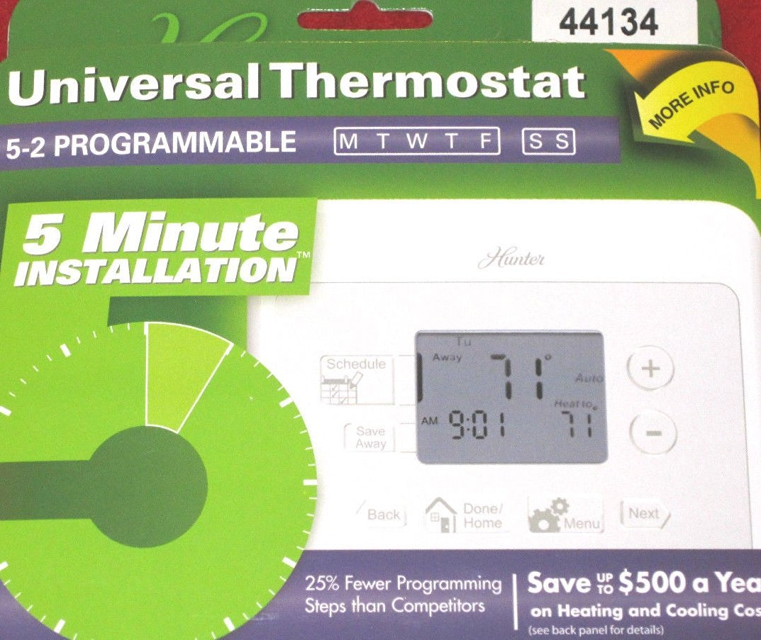 Cheap Hunter Thermostat 44155c Find Deals Wiring Diagram Get Quotations Universal 5 2