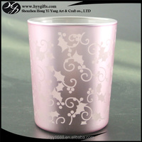 high end pink glass cone tealight candle holder