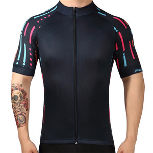 Men's Short Sleeve Used Cycling Jersey Accept Custom Design Bike Clothes From China
