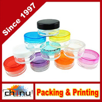 5ML High Quality Empty Clear Container Jars with MultiColor Lids for Makeup Cosmetic Samples, Small Jewelry, Beads