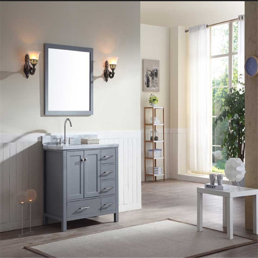 Dubai Modern Style Solid Wood Bathroom Mirror Cabinet ...