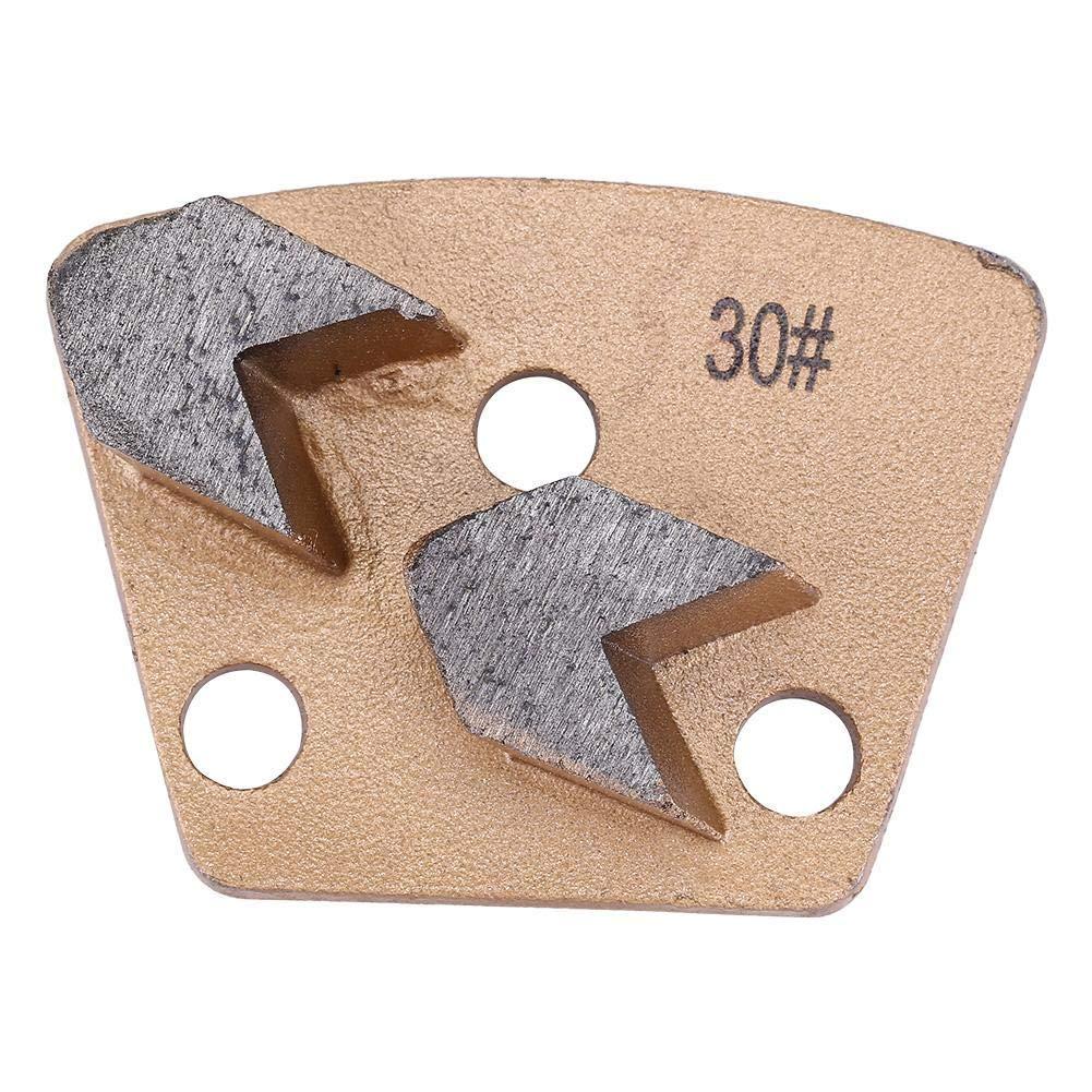 Grit 30 7.5x5.5cm Trapezoid Diamond Concrete Grinding Disc Pad for Grinder - 3 Holes 2 Arrow Teeth
