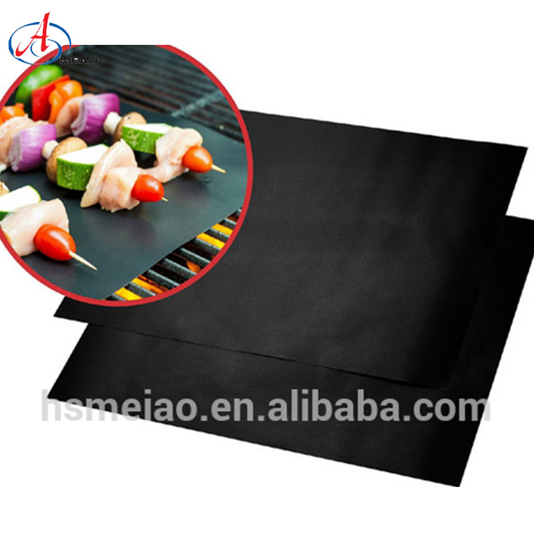 High Quality Pfoa Free Gas Charcoal Stove Grill Mat Heat Resistant Cooking Mat