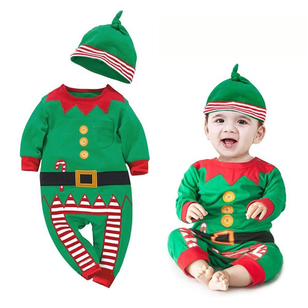 42e67c44b Tinksky Baby Boys Girl Christmas Santa Claus Suit, Baby Infant Santa  Christmas Jumpsuit Romper Clothes