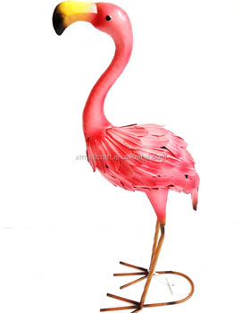 Metal Garden Decoration Outdoor Statue Flamingo Figurine