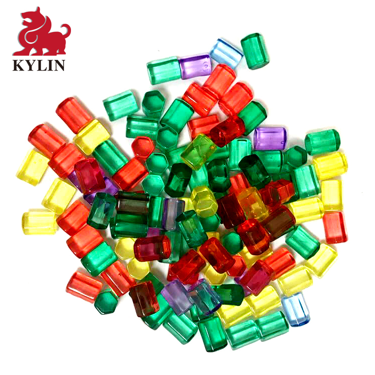 Made in china custom board game pieces large toy plastic building blocks for kids Colored Hexagon for board game
